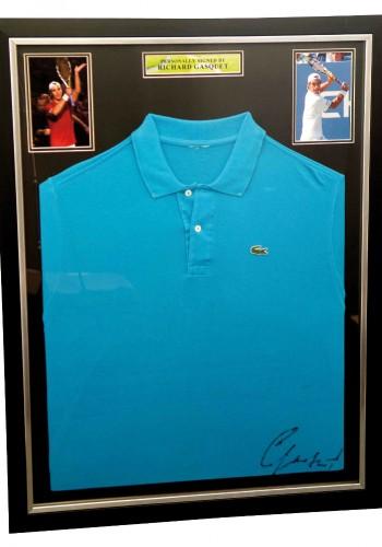 Lacoste Shirt Signed by Richard Gasquet - No Minimum Bid