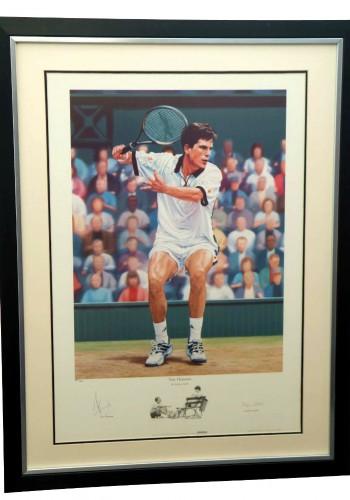 Framed Signed Photo of Tim Henman - Minimum Bid £125