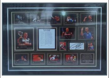 "Framed Signed Photos Phil ""the power"" Taylor - Minimum Bid £125"