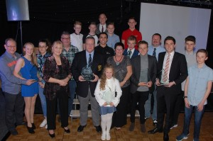 Mansfield Sports Recognition Awards 2014 A group of award winners