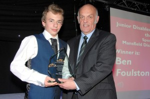 Junior Disabled Sportsperson of the Year – Ben Foulston (Swimming) Sponsored by Mansfield District Leisure Trust